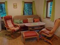 Obývací pokoj - chata ubytování Vlčí Hora