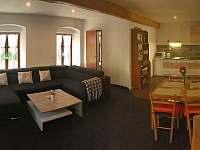 AP1 - hlavní místnost, celkový pohled - pronájem apartmánu Horní Chřibská