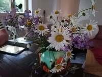 Kuchyňský stůl - chalupa k pronájmu Krásná Lipa