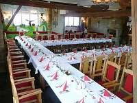 Svatební stůl v restauraci