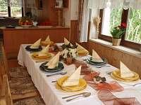 jídelna - chalupa ubytování Pelešany u Turnova