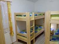 čtyřlůžkový pokoj s palandami - přízemí