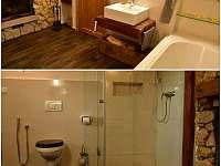 spodní koupelna s krbem - Čtveřín