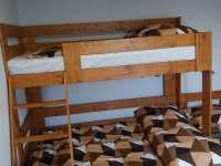 Ložnice dolní - chata ubytování Radim u Jičína