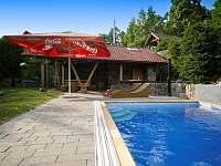 zahrada s pergolou,bazénem,dětské hřiště,trampolina - apartmán k pronajmutí Nová Paka