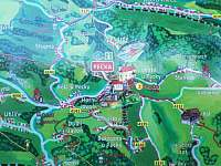 Mapka okolí - Stupná