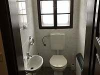 Toaleta - chalupa k pronajmutí Stupná