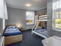 Pokoj 1 v přízemí 4 lůžka - apartmán k pronájmu Malá Skála