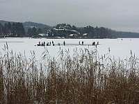 Branžež-Nová Ves - Komárovský rybník v zimě -