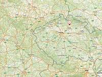 Poloha na mapě - chata k pronájmu Branžež