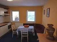 samostatný byt v suterénu s manž. postelí a sociálním zázemím - chata k pronajmutí Branžež