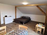 Rozkládací pohovka v obýváku - pronájem apartmánu Radostná pod Kozákovem - Kozákov