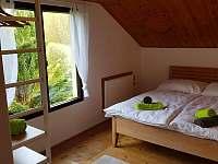 Malá ložnice s dvoulůžkem - chata k pronájmu Zásada u Sychrova