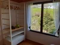 Výhled z malé ložnice - chata k pronajmutí Zásada u Sychrova