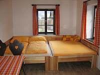 Ložnice se 2 manželskými postelemi - apartmán ubytování Malá Skála