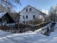 Mlýn v zimě - Dolni Bousov - Ošťovice