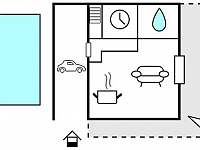 Plán objektu - rekreační dům k pronajmutí Koberovy - Zbirohy