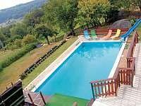 Velký bazén - rekreační dům k pronájmu Koberovy - Zbirohy