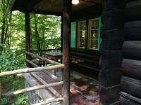 Terasa srub č. 1 - ubytování Spálov