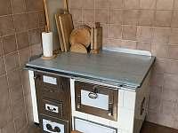 Kuchyň - pronájem chalupy Krčkovice