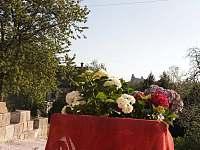 V Hradu - výhled z domu na Trosky - chalupa k pronájmu Rovensko pod Troskami