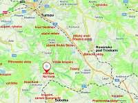 Mapa chalupy a okolí - Libošovice - Malá Lhota