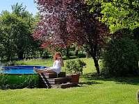 pohoda u bazénu - chalupa k pronajmutí Libošovice - Malá Lhota