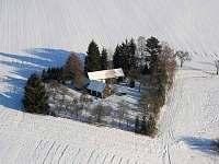zimní letecký pohled - Libošovice - Malá Lhota