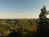 Pohled na hrad Trosky - pronájem chalupy Záborčí - Malá Skála