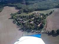 letecký pohled-Leština - pronájem chaty