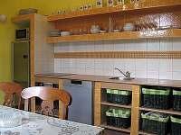 Kuchyňská linka s moderními elektrospotřebiči - vila k pronajmutí Uhlíře