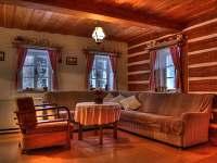 velká obývací místnost - chalupa k pronájmu Vidochov