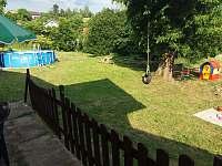 Dvorek s bazénem - chalupa ubytování Tatobity - Žlábek