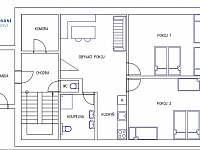 apartmán 3+kk - chalupa ubytování Olešnice - Pohoří