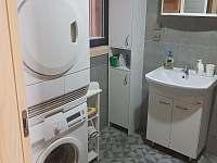 Koupelna s pračkou a sušičkou