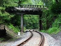 Post přes železniční trať z roku 1938 - Spálov -