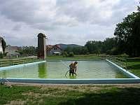 venkovní bazén - pronájem chaty Mladějov - Hubojedy