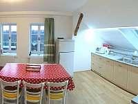 kuchyně v apartmánu do zahrady - Turnov
