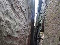 Studený průchod v Příhrazských skalách - chalupa k pronájmu Ploukonice
