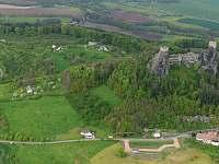 Letecký pohled - pronájem chalupy Troskovice