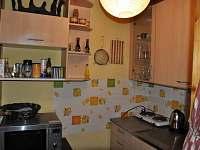 kuchyňka - chata k pronajmutí Březka - Jinolice
