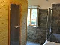 Koupelna se saunou - pronájem chalupy Záhoří - Dlouhý