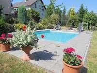 Bazén - apartmán ubytování Pelešany