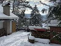 chata Amálka v zimě (leden 2021) - Pecka
