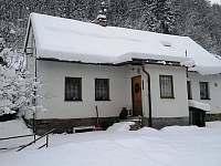 Zimní výhled - chata ubytování Splzov