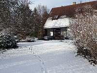 zahrada v zimě - Samšina