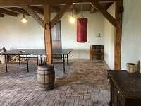 stodola se stolním tenisem - chalupa k pronajmutí Brdo