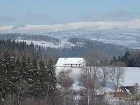 výhled na Krkonoše - pronájem chalupy Brdo