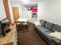 Apartmán pro čtyři, obývací část a kuchyň - Turnov