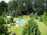 Foto zahrada 1 - apartmán ubytování Pelešany